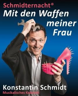 Plakat für Kabarettprogramm 'Schmidternacht - Listige Lieder'